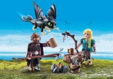 70040 DreamWorks Dragons© Hiccup and Astrid with Baby Dragon