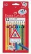 12 Jumbo GRIP Colour Pencils & Sharpener