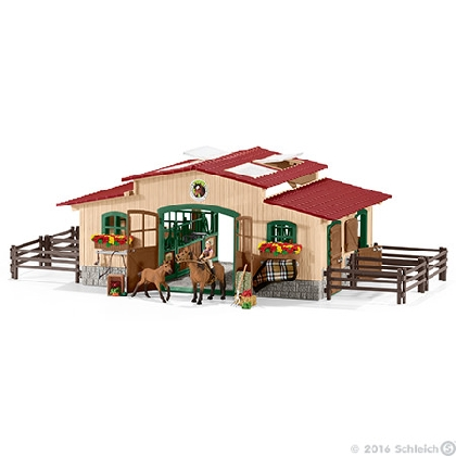 42195-stable-with-horses-and-accessories