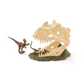 42348 Large Skull Trap with Velociraptor