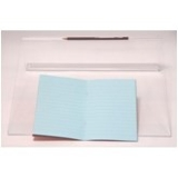 "9""x7"" Exercise Book: Lined (10mm) - Aqua/Blue"