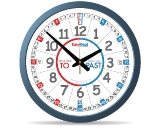 Easy Read Time Clock - Blue/Red