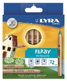 FERBY Triangular Crayons - Pack of 12