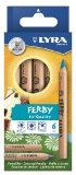 FERBY Triangular Crayons - Pack of 6