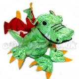 Finger Puppet - Dragon Green