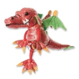 Finger Puppet - Dragon Red