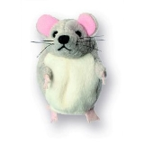 Finger Puppet - Mouse (Grey)