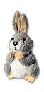 Finger Puppet - Rabbit (Grey)