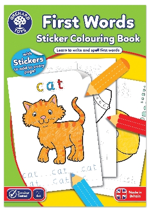 first-words-colouring-book