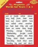 Magnetic Words Years 1&2 - Pack 3