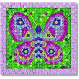 Peel & Press Mosaic Butterfly*18